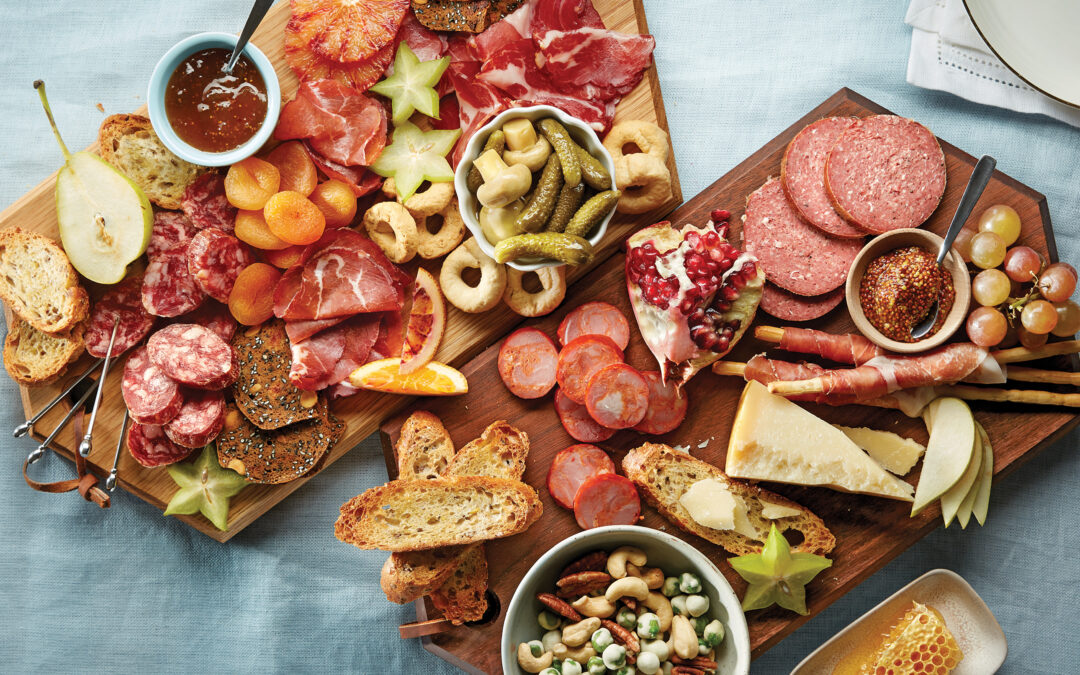 Time to Kick Back, sit and enjoy an extraordinary Charcuterie board and a Glass of Wine: Mom's Dream Mother's Day Gift!
